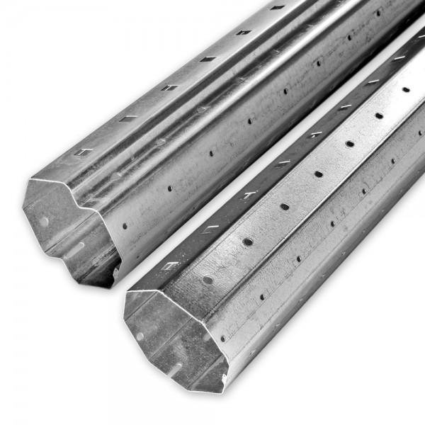 Achtkant-Stahlwellen-Set SW 60, Länge bis 3,3 m, individ. kürzbar