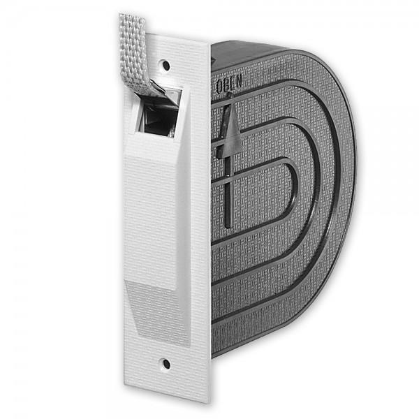 Mini-Einlass-Gurtwickler Nano, inkl. Mauerkasten und Deckplatte, mit Gurt