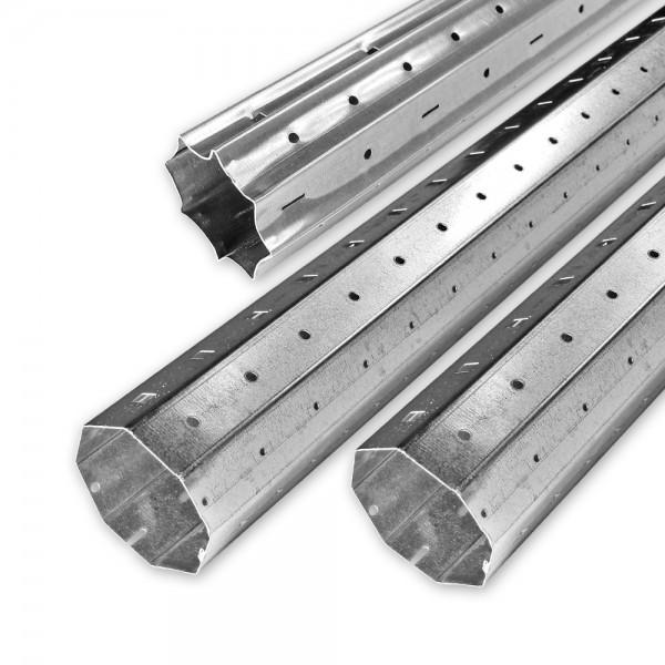 Achtkant-Stahlwellen-Set SW 60, bis 3,0 m, individ. kürzbar