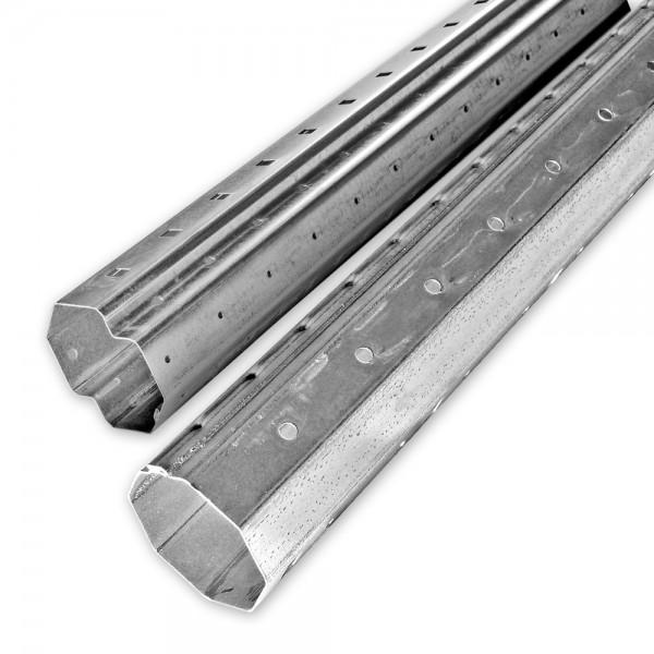 Mini-Achtkant-Stahlwellen-Set SW 40, Länge bis 2,90 m, individ. kürzbar