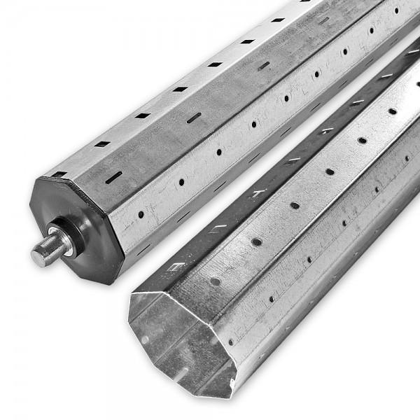 Mini-Achtkant-Stahlwellen-Set SW 40, bis 2,6 m, individ. kürzbar