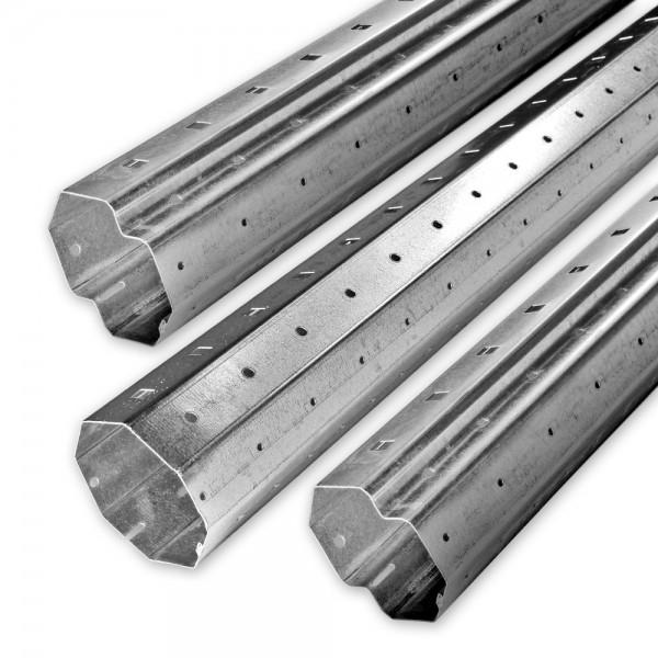 Achtkant-Stahlwellen-Set SW 60, Länge bis 4,6 m, Individ. kürzbar