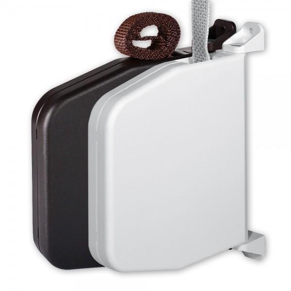 Mini-Aufputz-Gurtwickler Normo, aufklappbar, mit Gurt